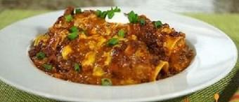 Enchiladas de chili con carne