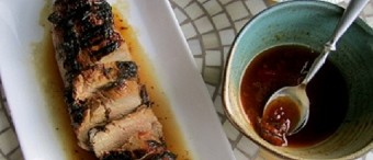 Lomo de cerdo asado con salsa de cerveza