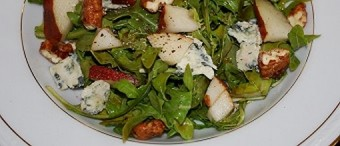 Arugula Pear and Blue Cheese Salad