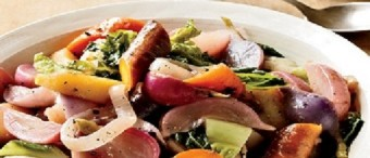 Braised Cabbage, Root Vegetables and Fall Fruit