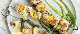 Chicken Souvlaki with Oranges and Lemons