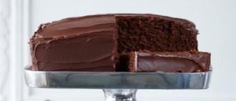 Devilishly Bittersweet Chocolate Cake