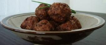 Meatballs (Nikudango) with Antake Sauce