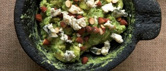 Guacamole with Blue Cheese and Smoked Almonds