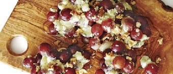 Grape Clusters with Brie, Gorgonzola and Honey