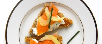 Salmon, Fromage Blanc and Pickled Celery Canapé