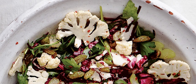 Shaved Cauliflower and Radicchio Salad - COCTIONE